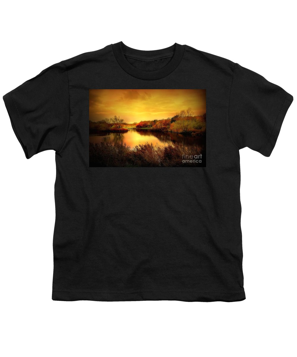 Pond Youth T-Shirt featuring the photograph Golden Pond by Jacky Gerritsen