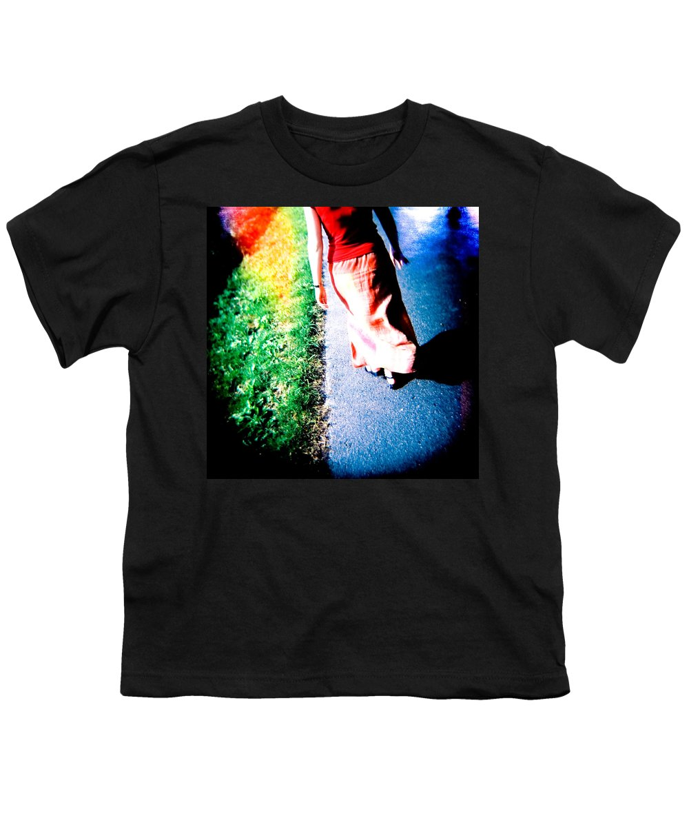 Color Photograph Holga Youth T-Shirt featuring the photograph Gone by Olivier De Rycke