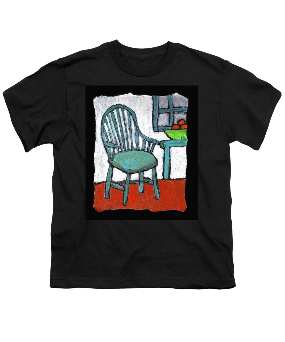 Chair Youth T-Shirt featuring the painting Grampa's Empty Chair by Wayne Potrafka