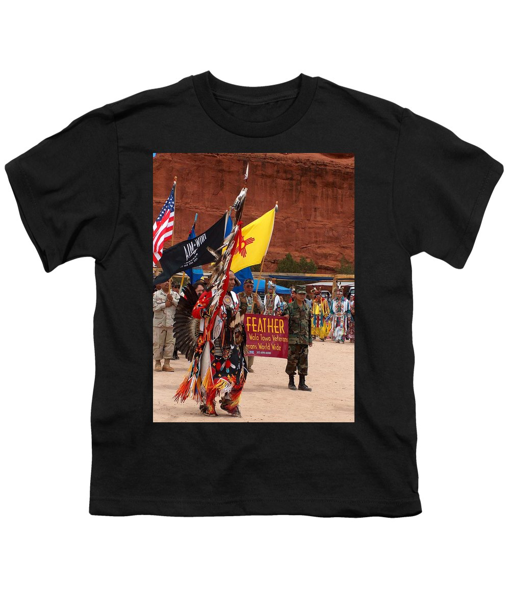 Pow-wow Youth T-Shirt featuring the photograph Grand Entry At Star Feather Pow-wow by Tim McCarthy