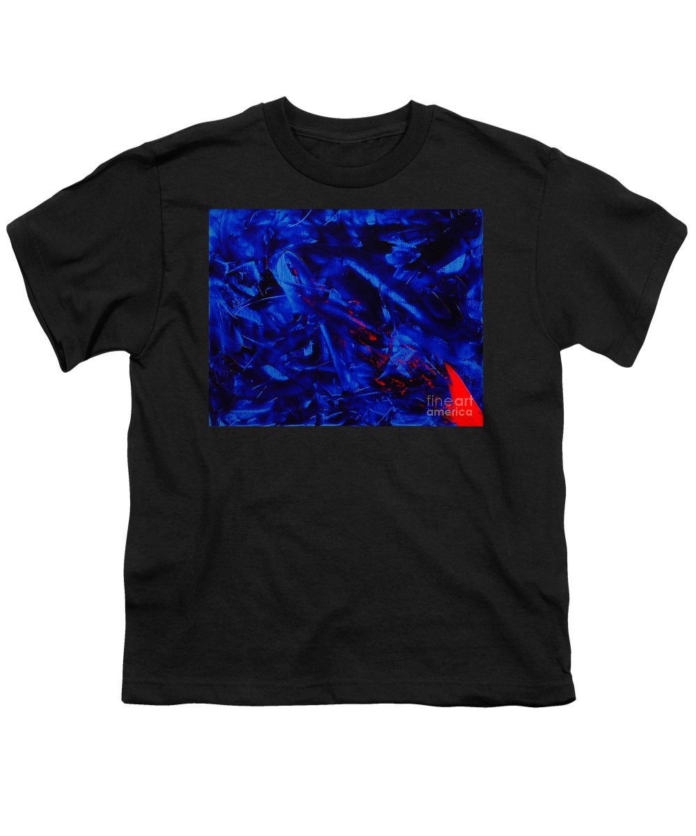 Abstract Youth T-Shirt featuring the painting Grandma IIi by Dean Triolo