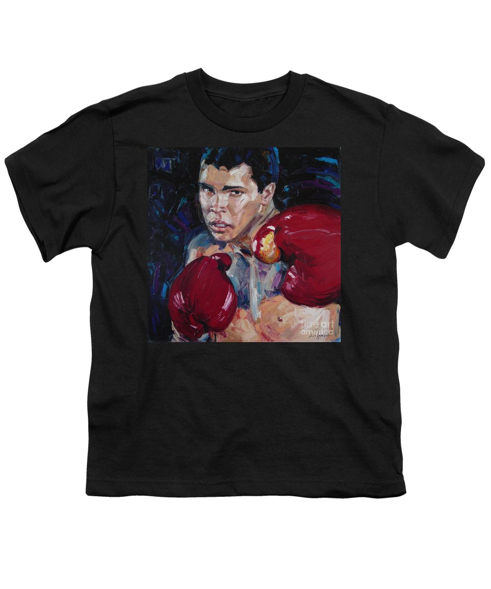 Figurative Youth T-Shirt featuring the painting Great Ali by Sergey Ignatenko
