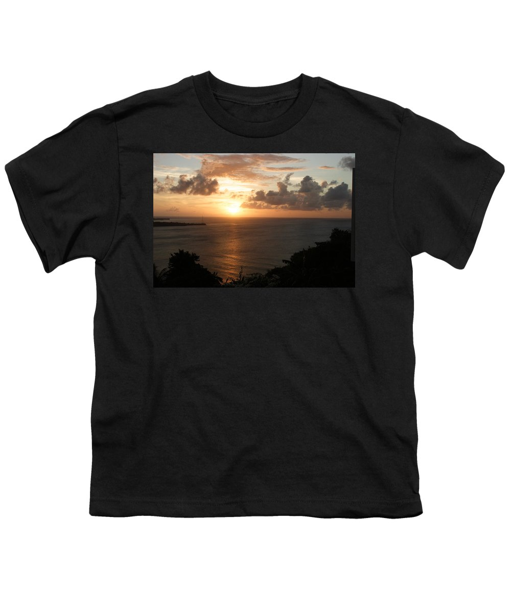 Grenada Youth T-Shirt featuring the photograph Grenadian Sunset I by Jean Macaluso