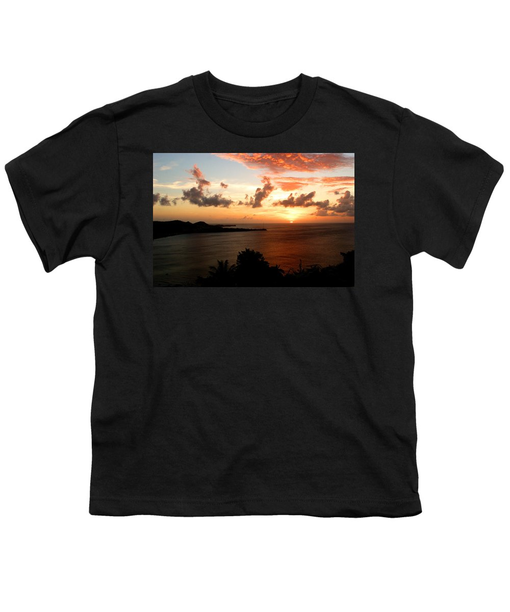 Sunset Youth T-Shirt featuring the photograph Grenadian Sunset II by Jean Macaluso