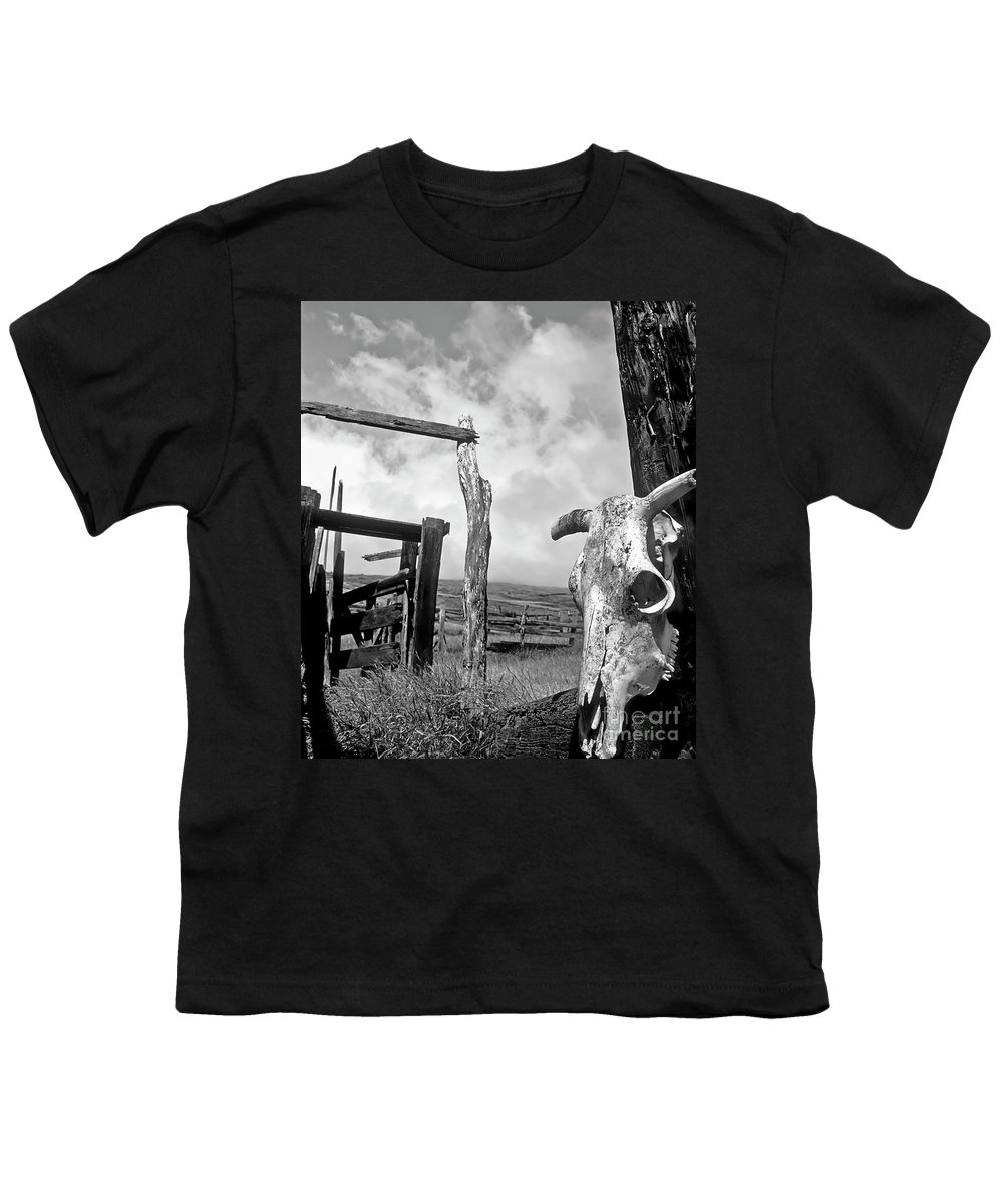 Black And White Youth T-Shirt featuring the photograph Guardian Spirit by Jim Cazel