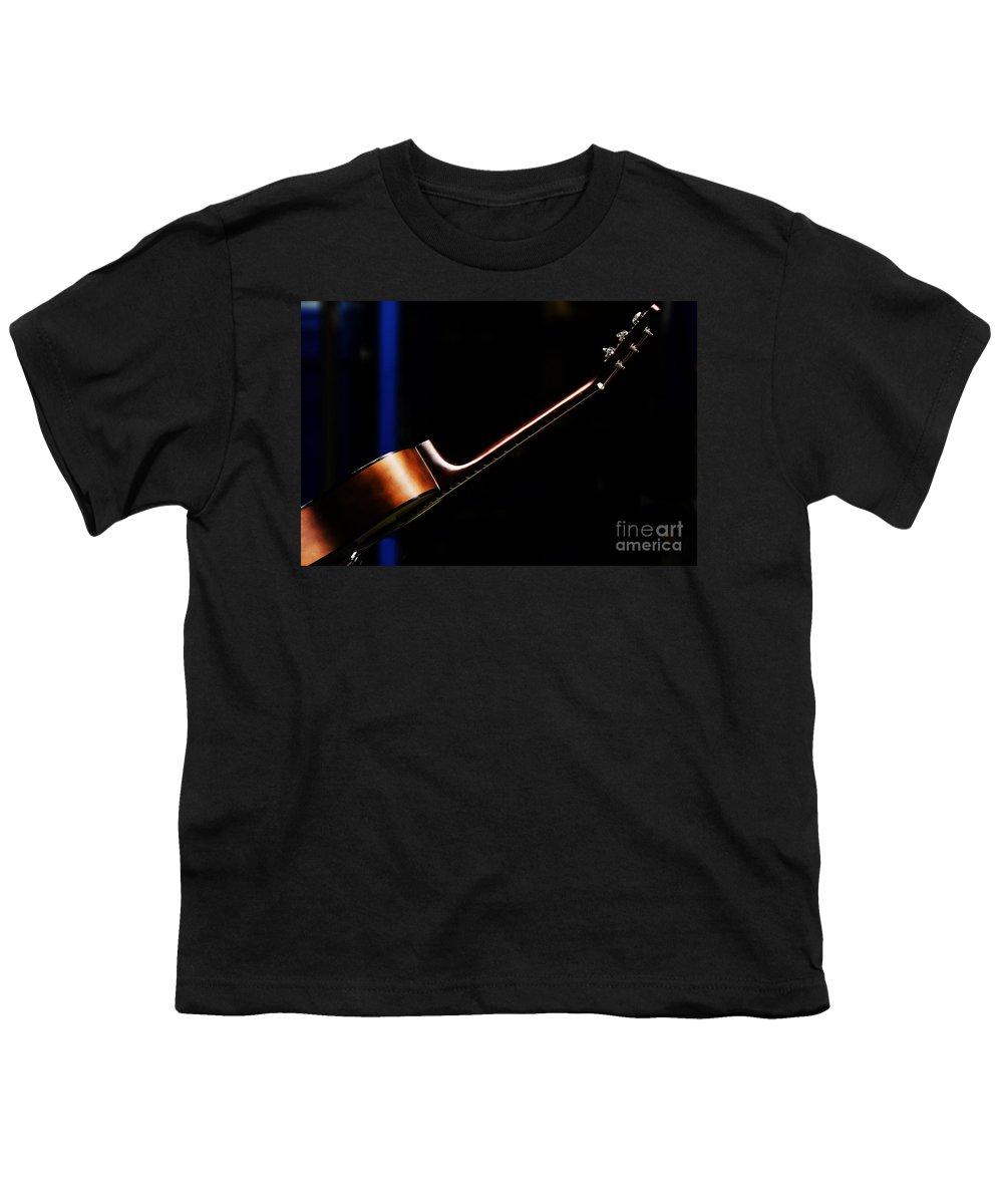 Guitar Youth T-Shirt featuring the photograph Guitar by Avalon Fine Art Photography