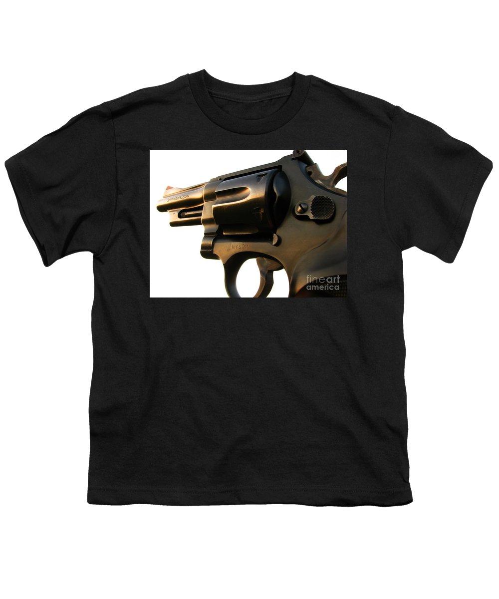 Gun Youth T-Shirt featuring the photograph Gun Series by Amanda Barcon