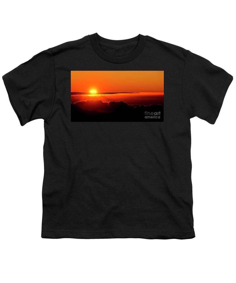 Sunrise Youth T-Shirt featuring the photograph Maui Hawaii Haleakala National Park Sunrise IIi by Jim Cazel
