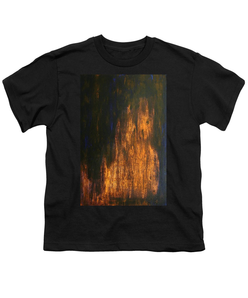 Mystery Youth T-Shirt featuring the painting Half-faced 2007 by RalphGM