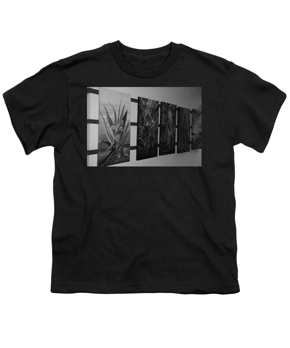 Black And White Youth T-Shirt featuring the photograph Hanging Art by Rob Hans