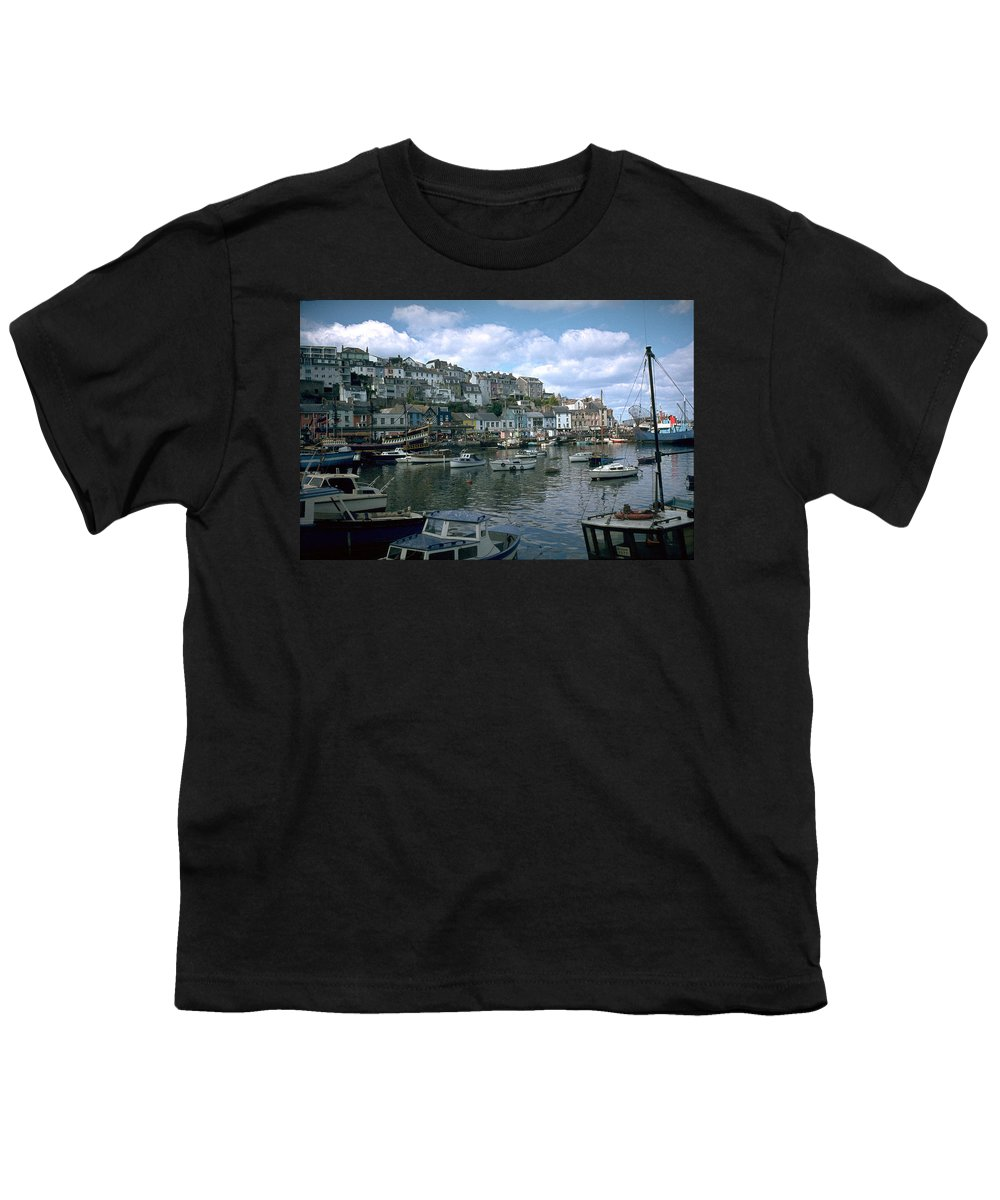 Great Britain Youth T-Shirt featuring the photograph Harbor by Flavia Westerwelle