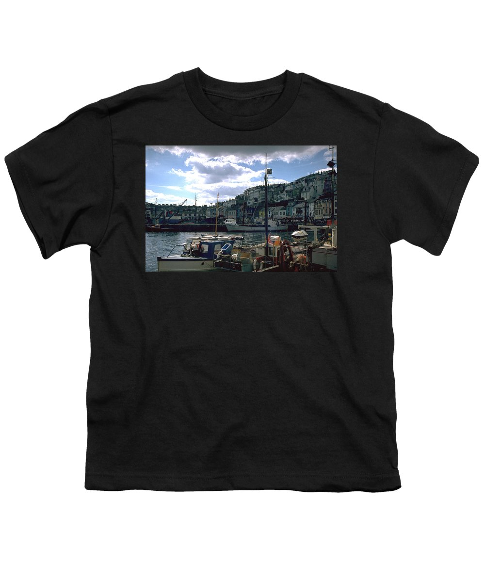Great Britain Youth T-Shirt featuring the photograph Harbor II by Flavia Westerwelle