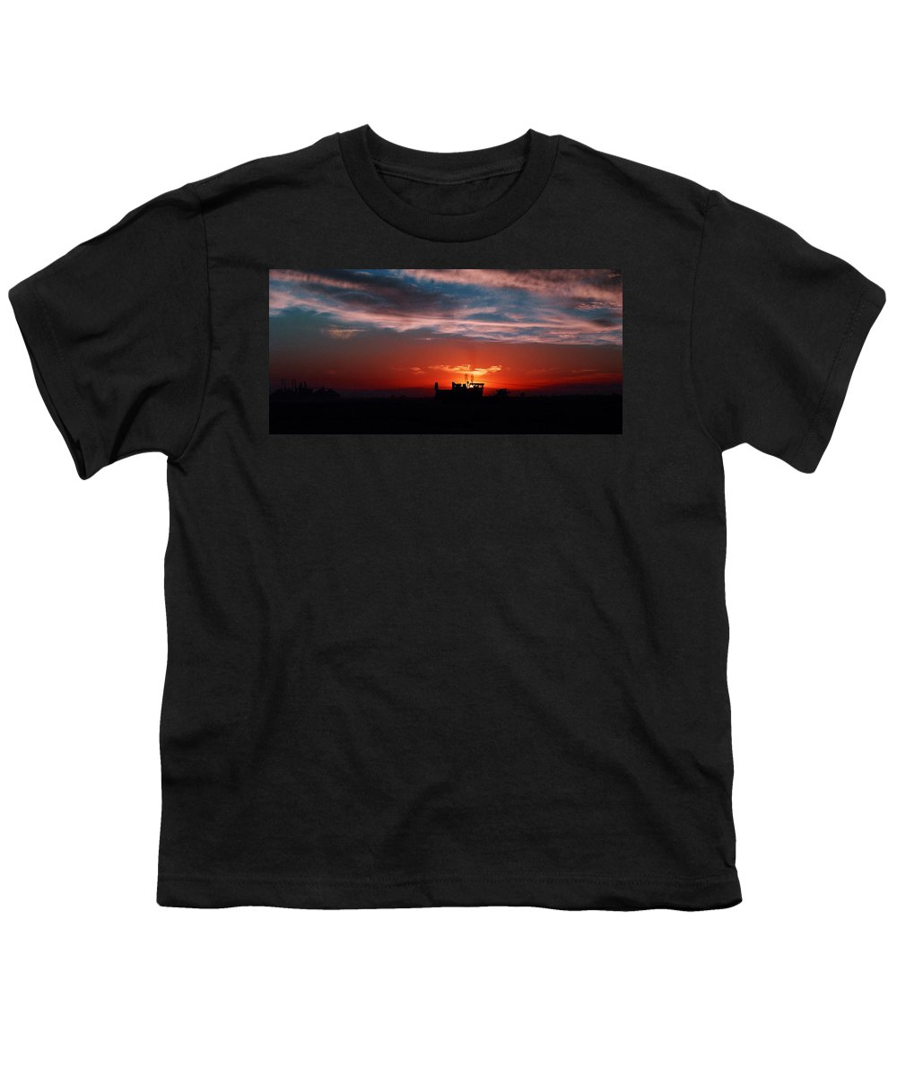 Sunset Youth T-Shirt featuring the photograph Harvest by Peter Piatt