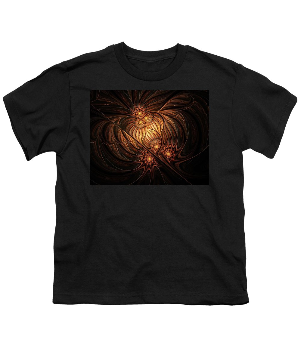 Digital Art Youth T-Shirt featuring the digital art Heavenly Onion by Amanda Moore