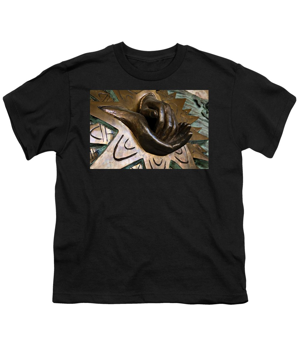 Italy Youth T-Shirt featuring the photograph Helping Hands by Marilyn Hunt