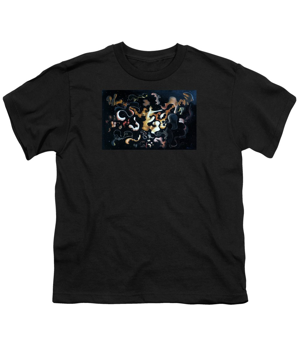 Abstract Youth T-Shirt featuring the painting Herculean Construction by Dave Martsolf
