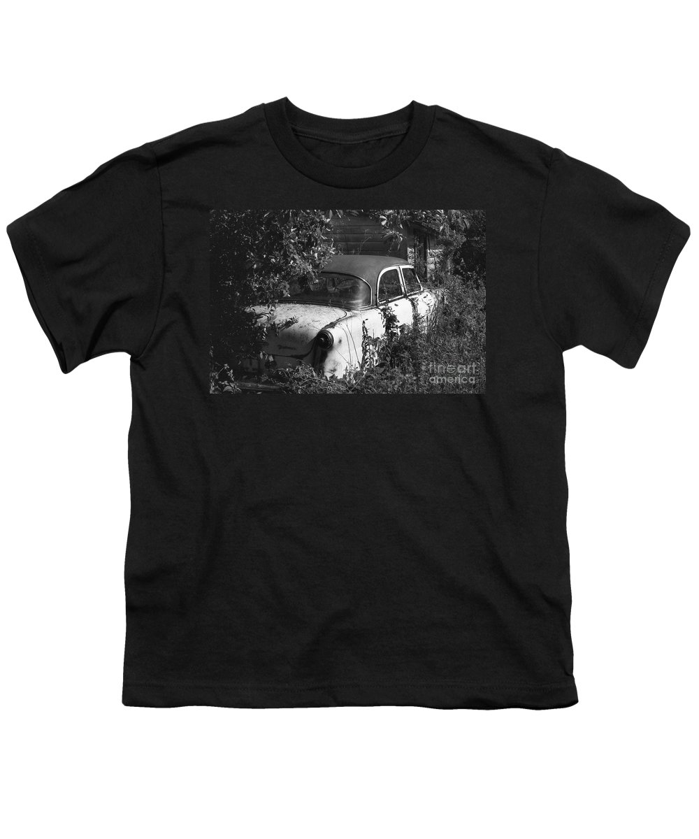 Abandoned Youth T-Shirt featuring the photograph Hidden Treasure by Richard Rizzo