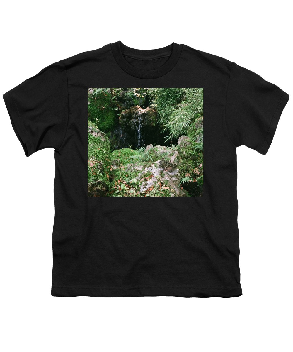 Nature Youth T-Shirt featuring the photograph Hidden Waterfall by Dean Triolo