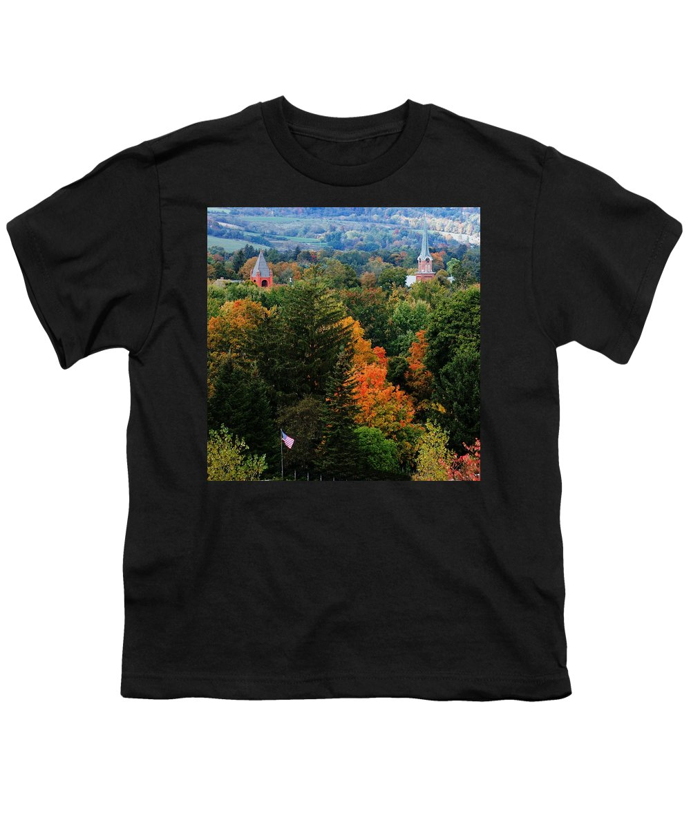 Landscape Youth T-Shirt featuring the photograph Homer Ny by David Lane