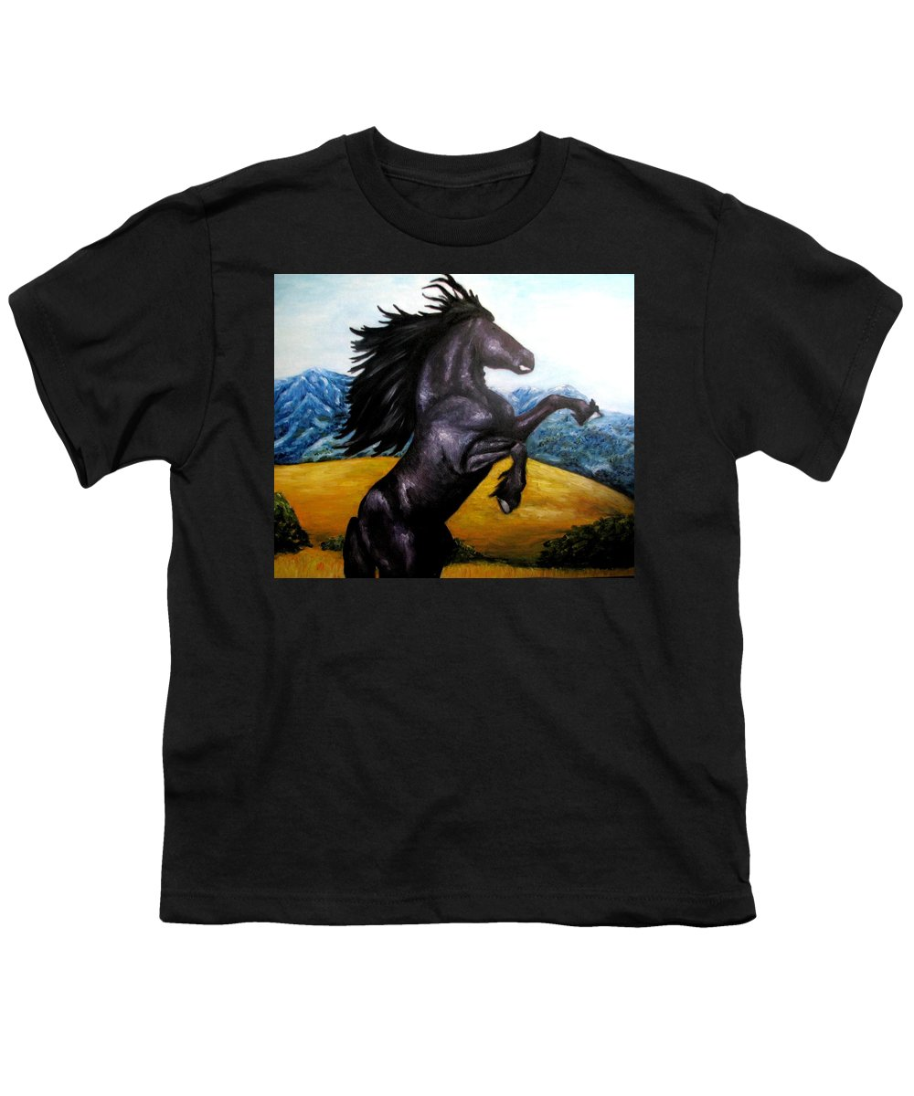 Horse Youth T-Shirt featuring the painting Horse Oil Painting by Natalja Picugina