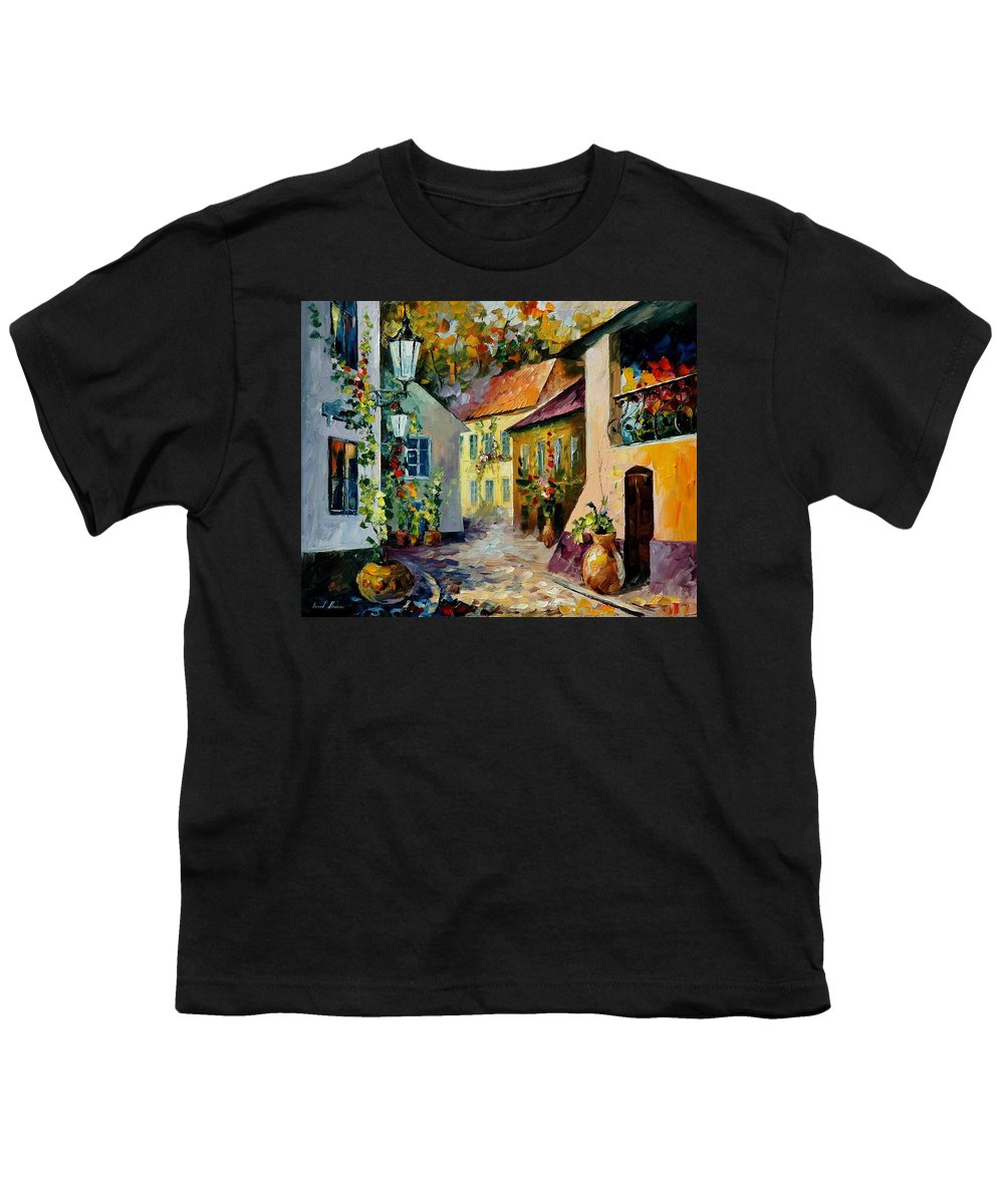 Landscape Youth T-Shirt featuring the painting Hot Noon Original Oil Painting by Leonid Afremov