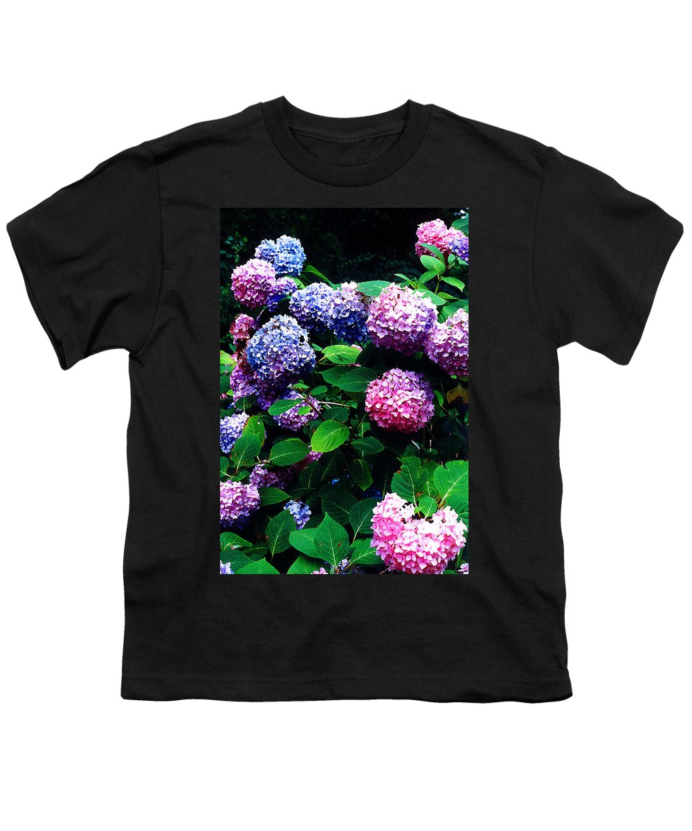 Flowers Youth T-Shirt featuring the photograph Hydrangeas by Nancy Mueller