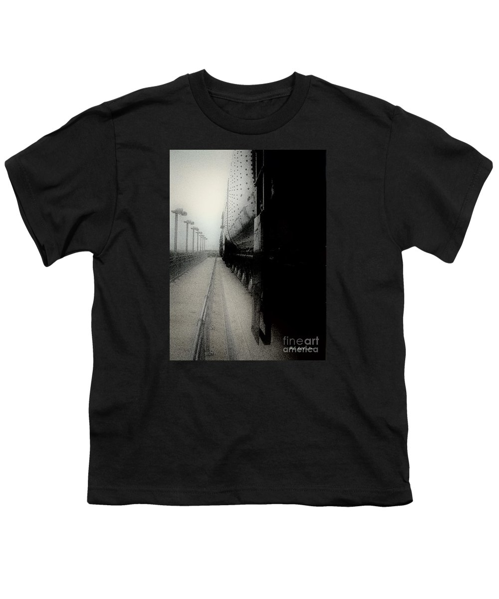 Train Youth T-Shirt featuring the digital art I Hear That Lonesome Whistle Blow by RC DeWinter