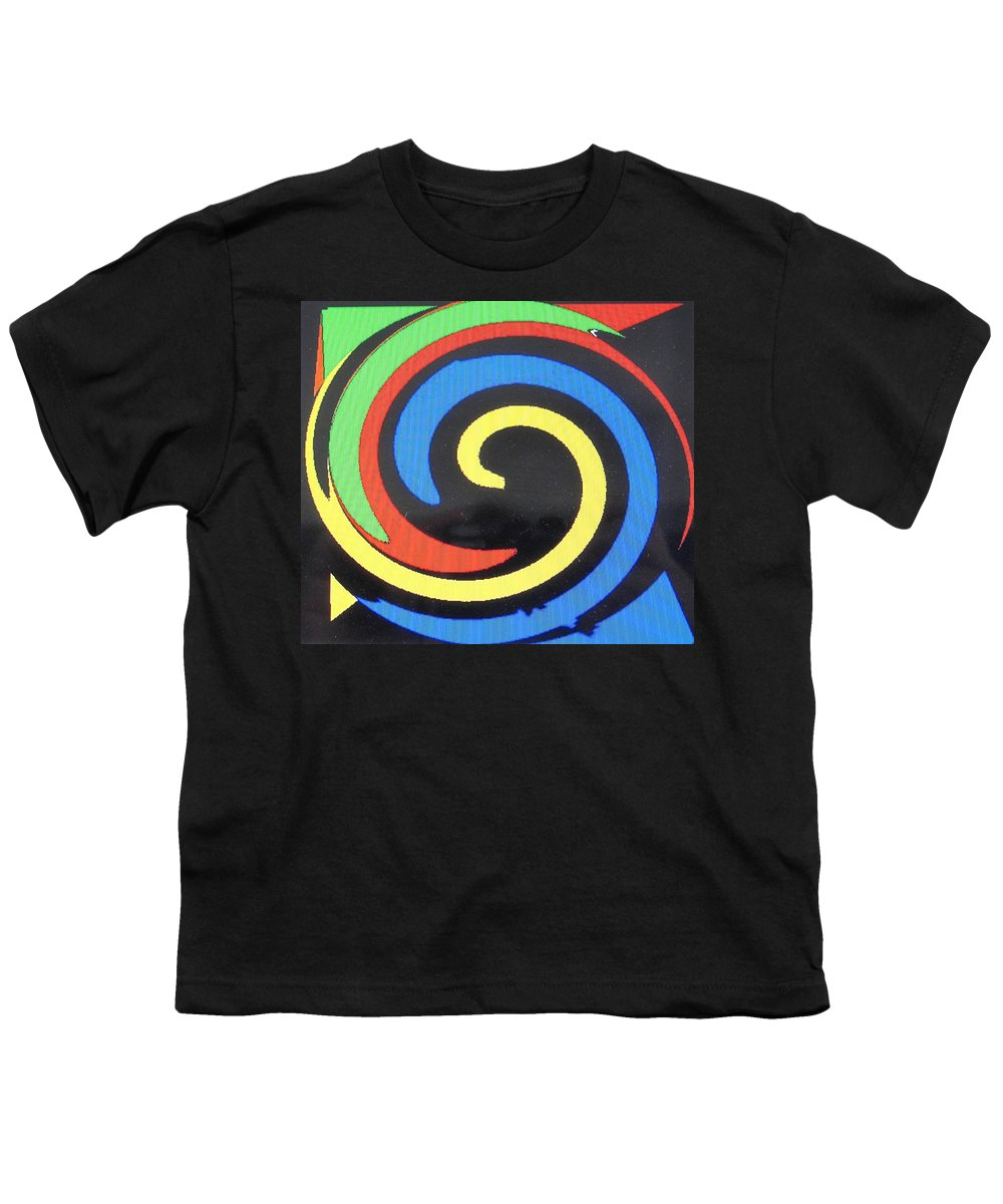 Red Youth T-Shirt featuring the digital art In Balance by Ian MacDonald