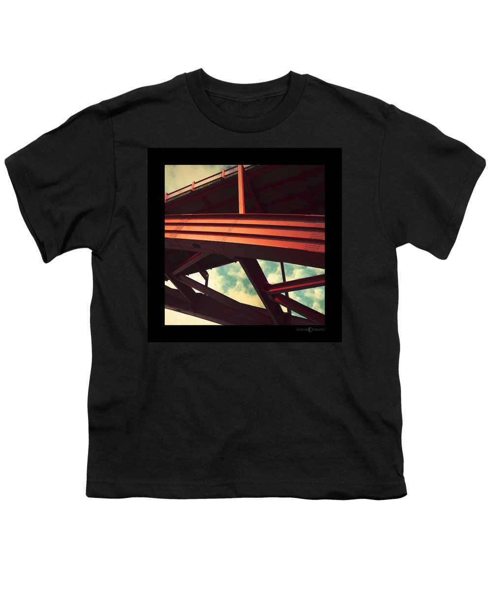 Bridge Youth T-Shirt featuring the photograph Infrastructure by Tim Nyberg