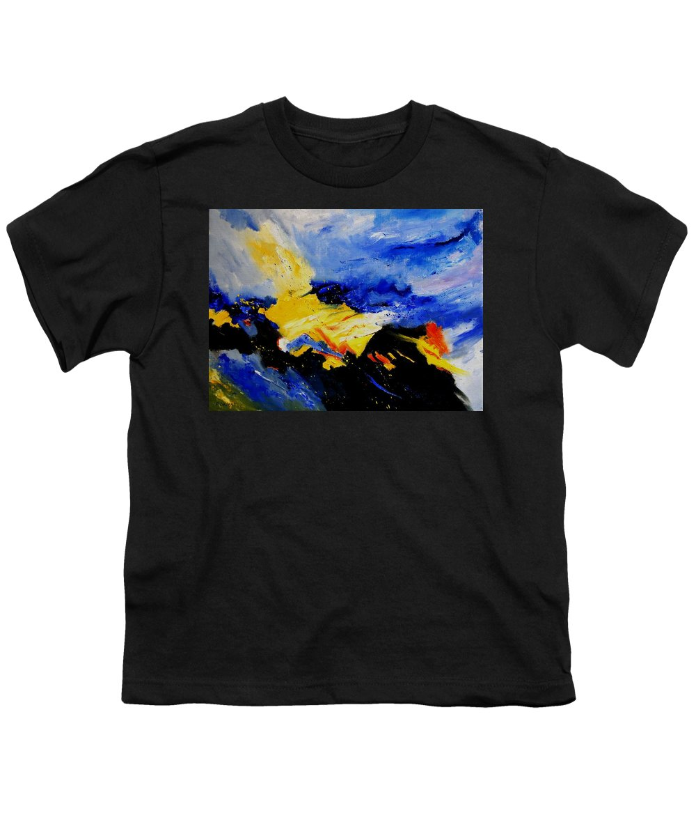 Abstract Youth T-Shirt featuring the painting Interstellar Overdrive 2 by Pol Ledent