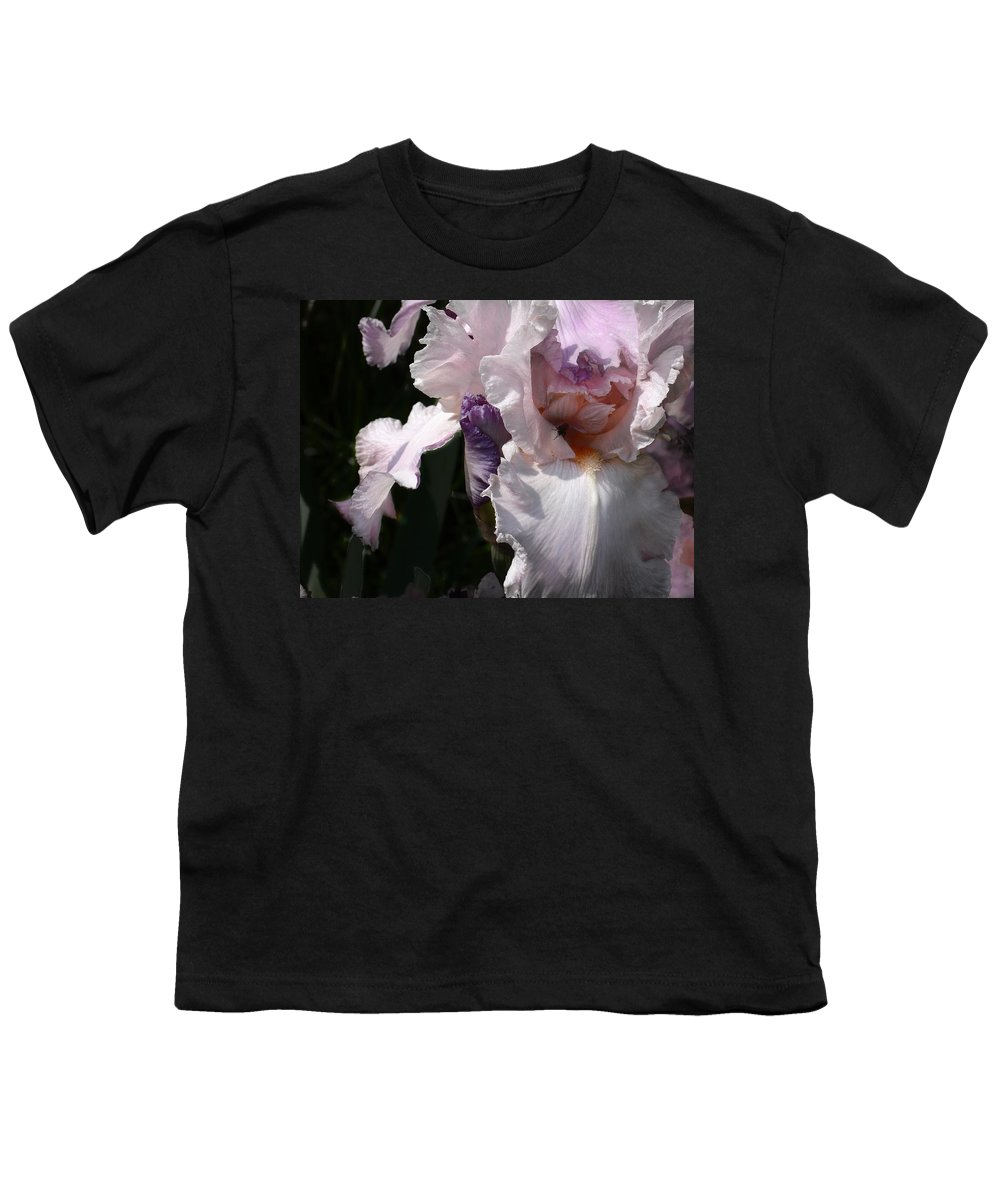 Flower Youth T-Shirt featuring the photograph Iris Lace by Steve Karol