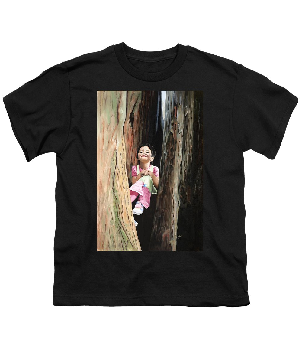 Girl Youth T-Shirt featuring the painting Isabella Of Kilkenny by Mary Rogers