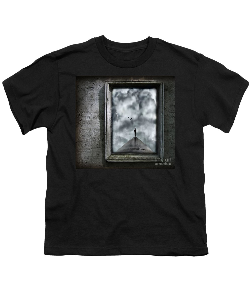 Dark Youth T-Shirt featuring the painting Isolation by Jacky Gerritsen