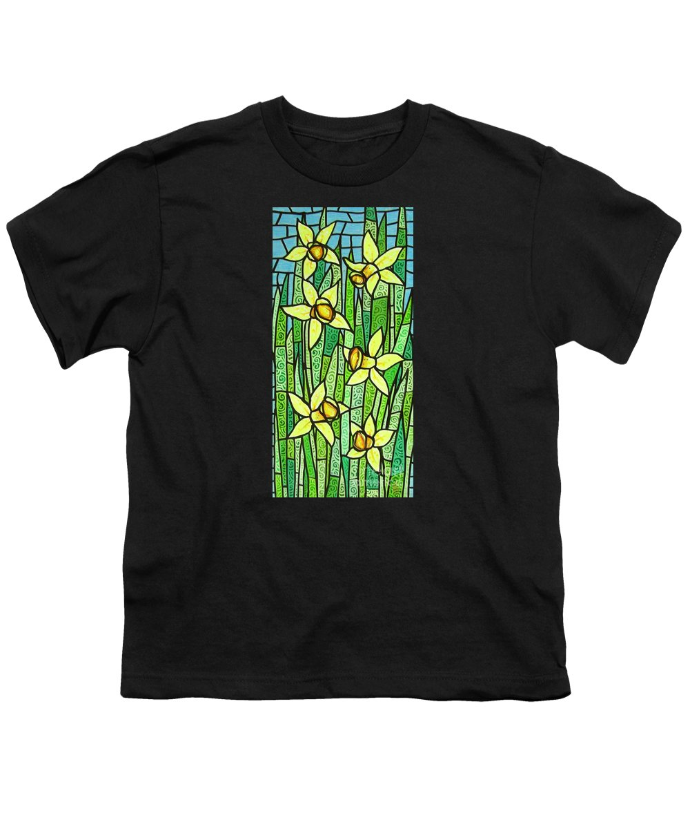 Jonquils Youth T-Shirt featuring the painting Jonquil Glory by Jim Harris