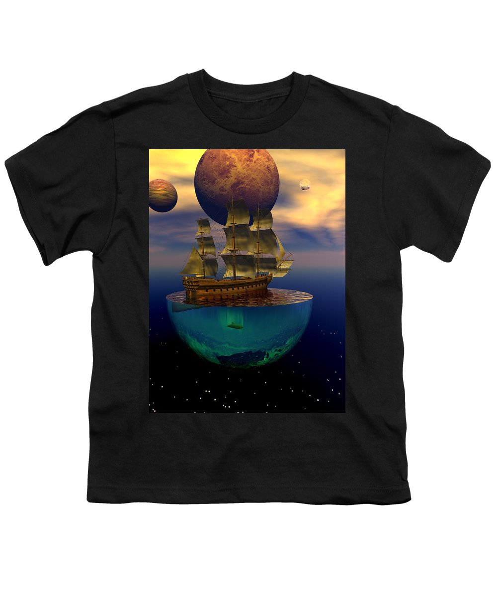 Bryce Youth T-Shirt featuring the digital art Journey Into Imagination by Claude McCoy