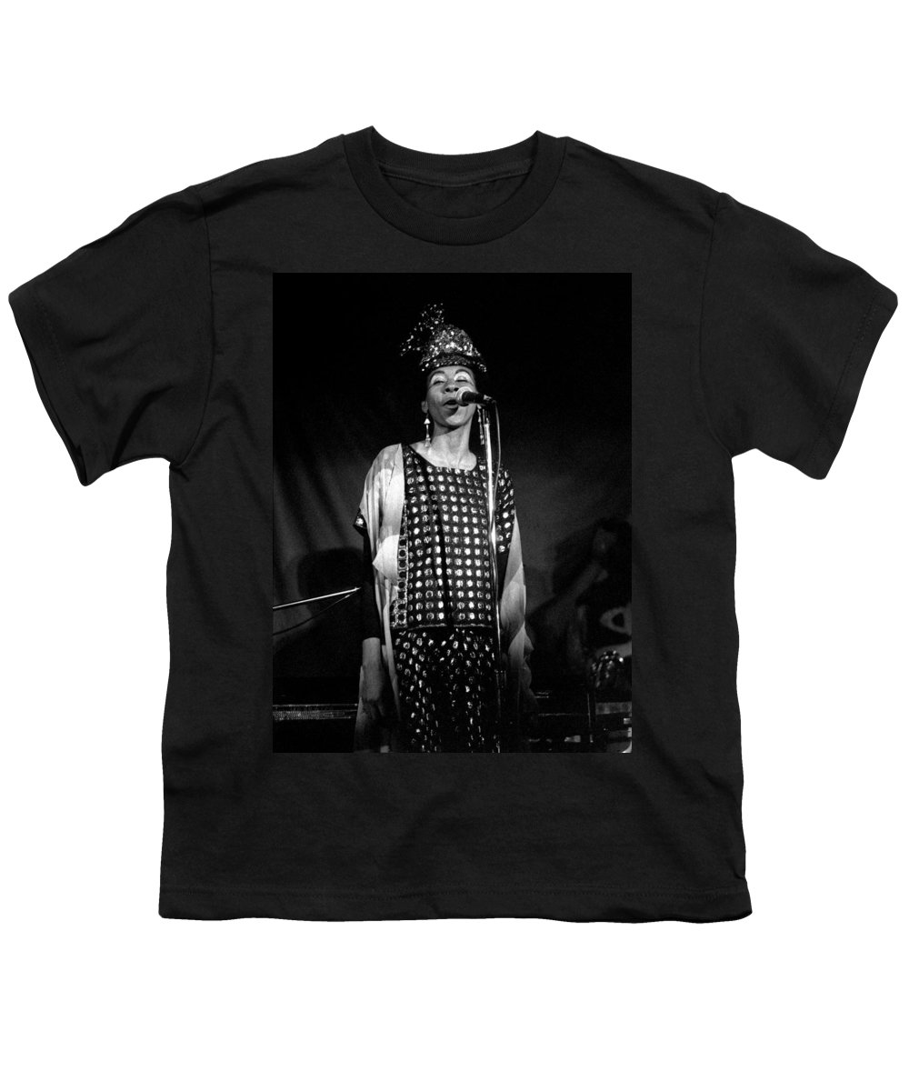 June Tyson Youth T-Shirt featuring the photograph June Tyson by Lee Santa