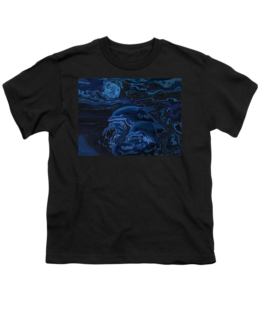 Animal Youth T-Shirt featuring the digital art Just The Two Of Us by Rabi Khan