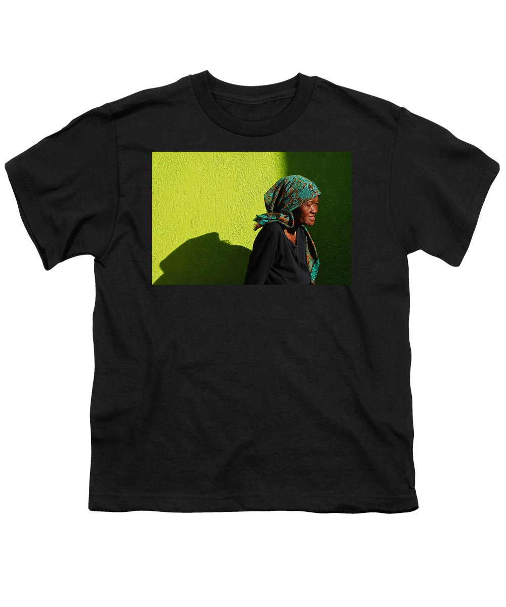 Africa Youth T-Shirt featuring the photograph Lady In Green by Skip Hunt