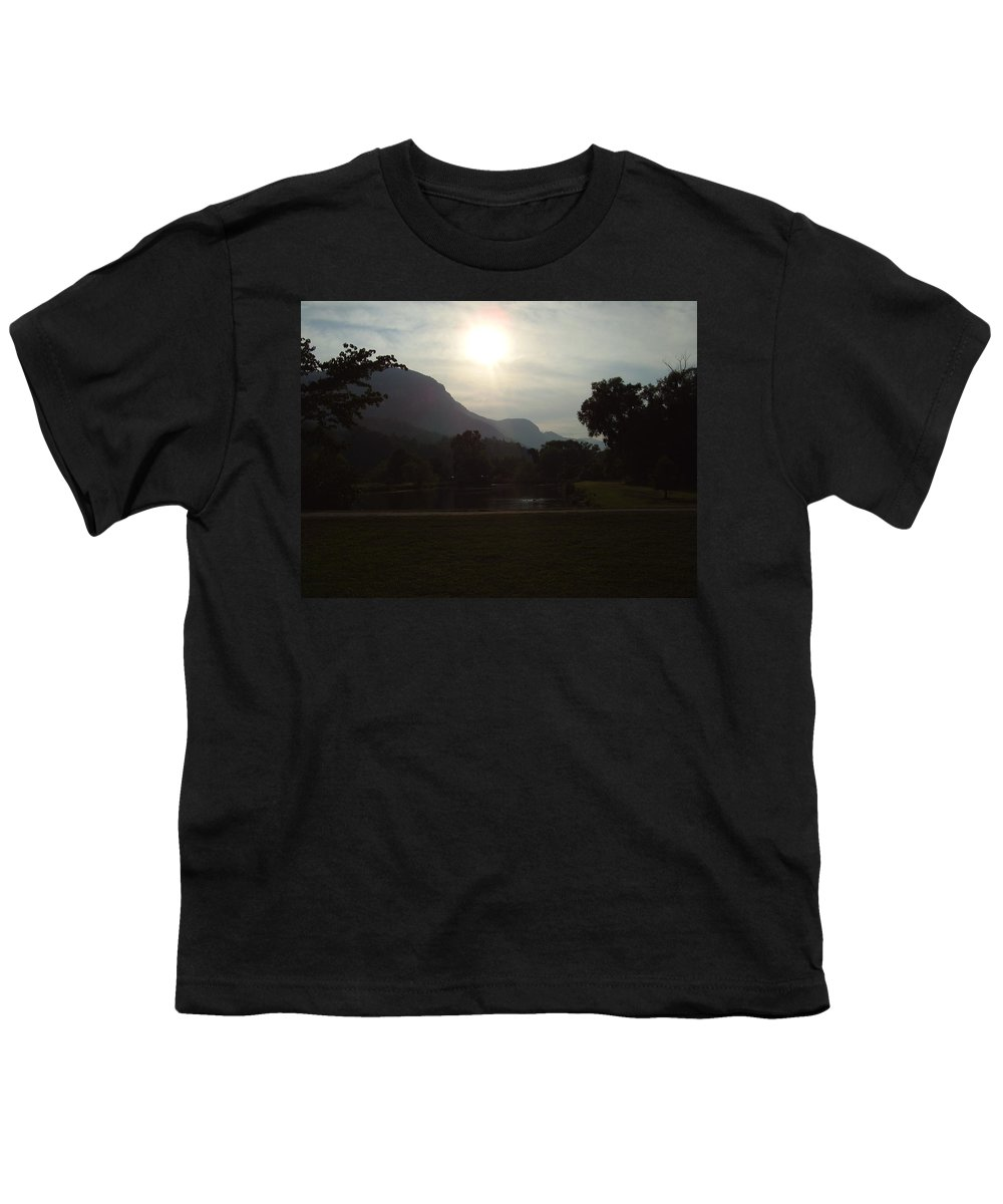 Lake Lure Youth T-Shirt featuring the photograph Lake Lure by Flavia Westerwelle