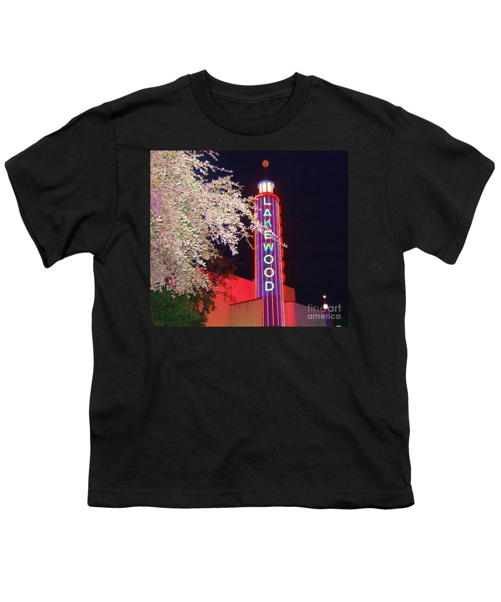 Theater Youth T-Shirt featuring the photograph Lakewood Theater by Debbi Granruth
