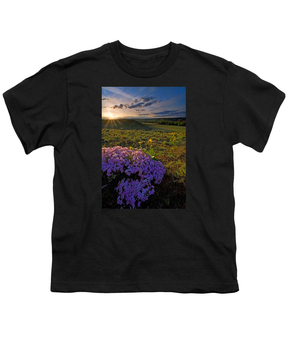 Wildflowers Youth T-Shirt featuring the photograph Last Light Of Spring by Mike Dawson