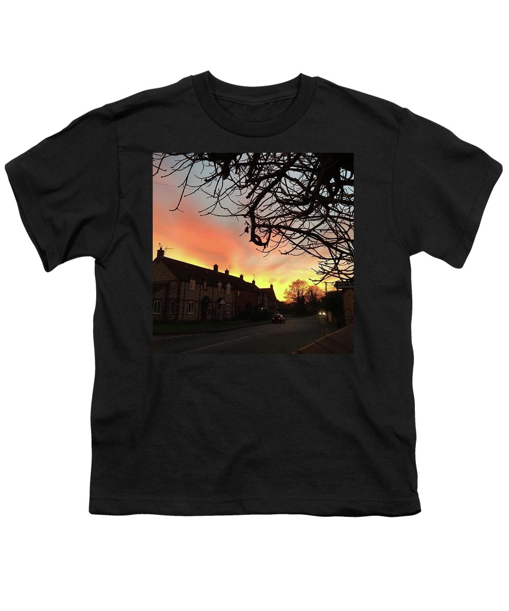 Natureonly Youth T-Shirt featuring the photograph Last Night's Sunset From Our Cottage by John Edwards