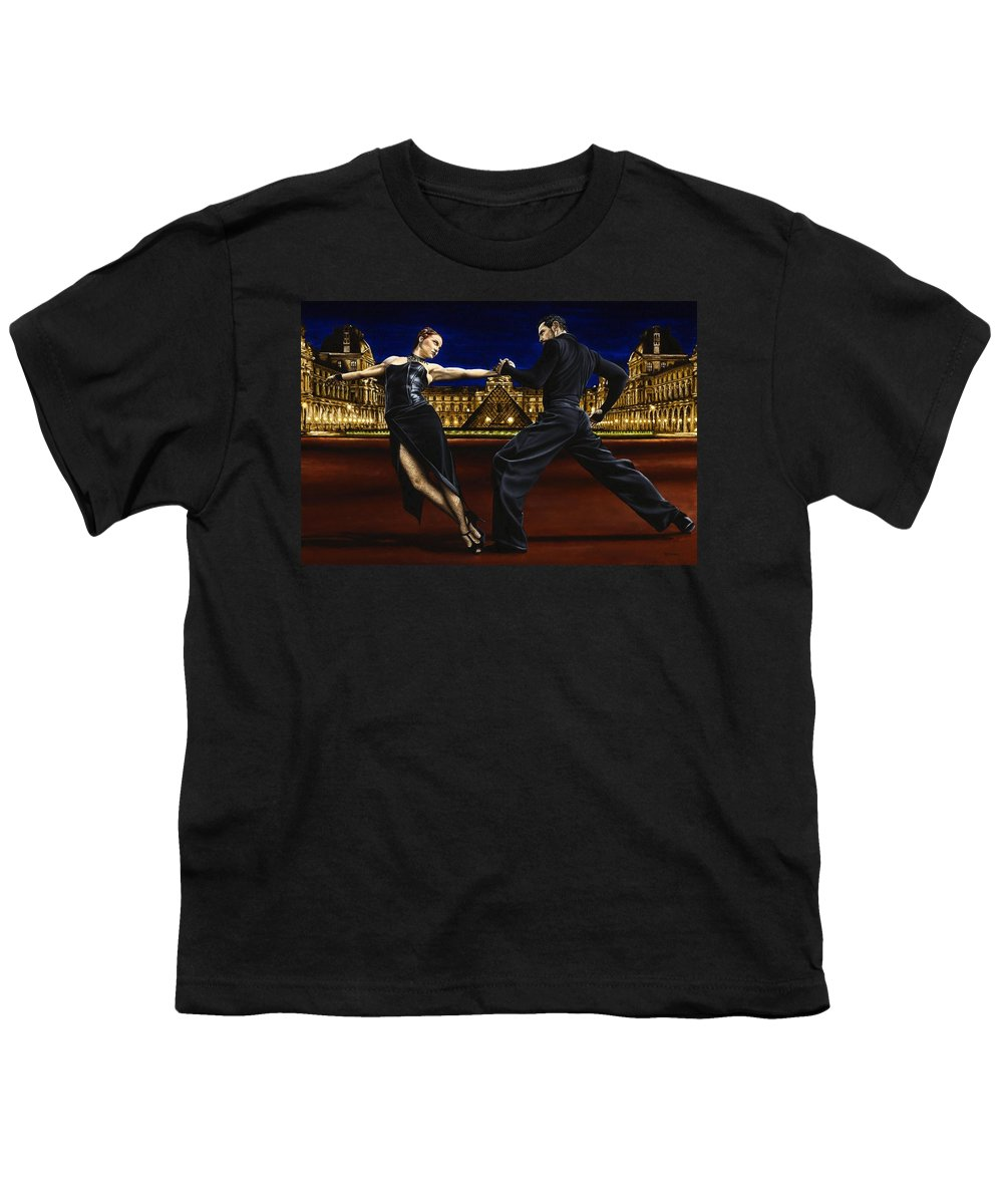 Tango Youth T-Shirt featuring the painting Last Tango In Paris by Richard Young