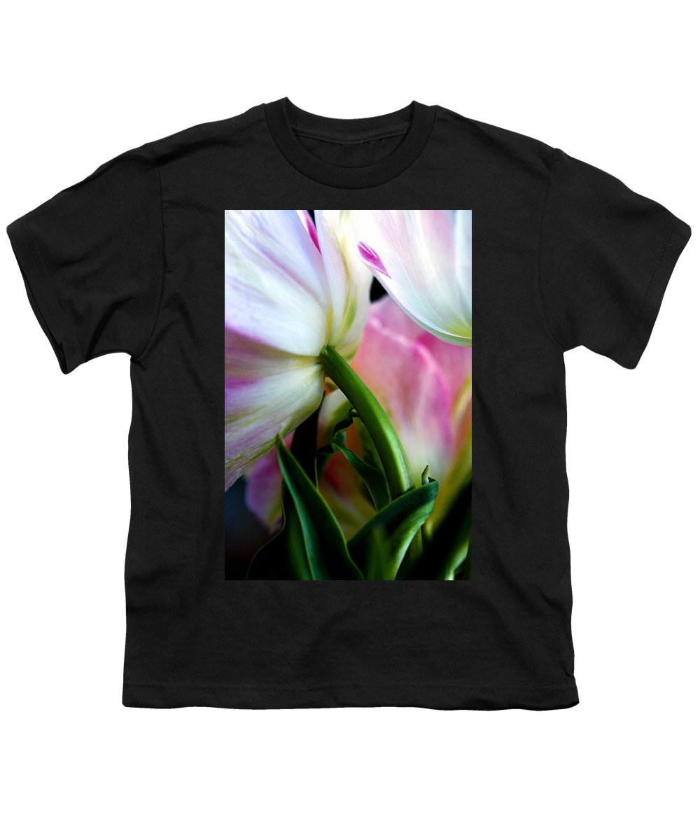 Flower Youth T-Shirt featuring the photograph Layers Of Tulips by Marilyn Hunt