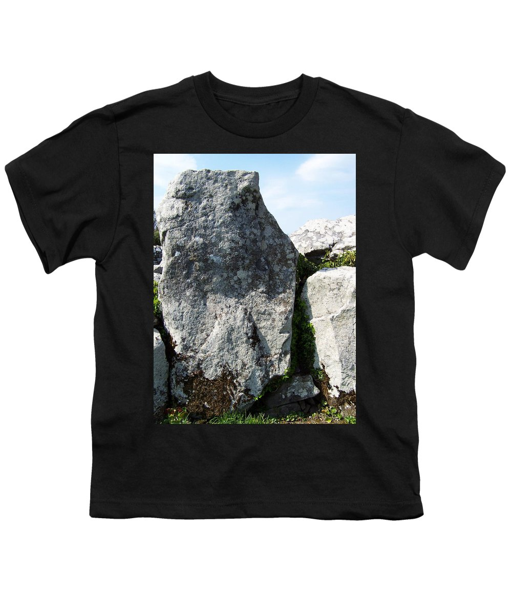 Irish Youth T-Shirt featuring the photograph Life At Creevykeel Court Cairn Sligo Ireland by Teresa Mucha