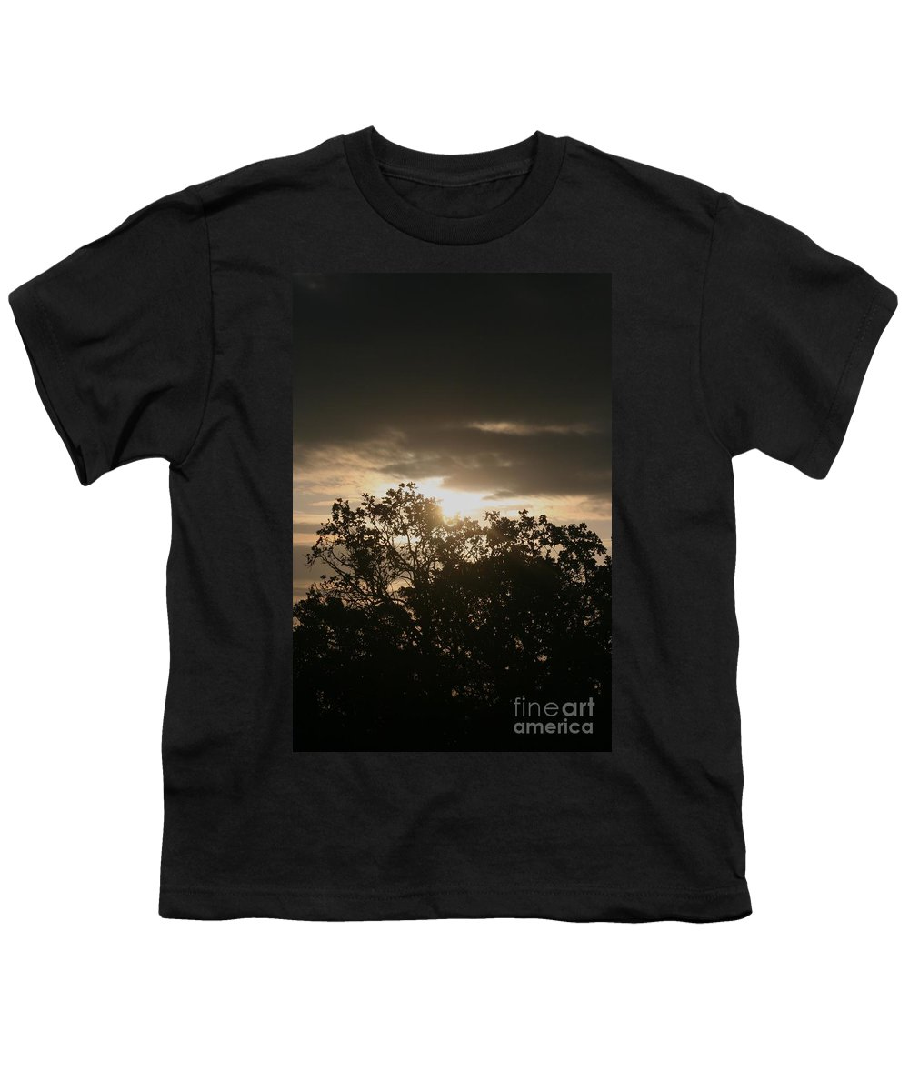 Light Youth T-Shirt featuring the photograph Light Chasing Away The Darkness by Nadine Rippelmeyer