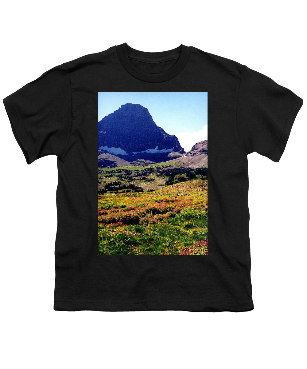Glacier National Park Youth T-Shirt featuring the photograph Logans Pass In Glacier National Park by Nancy Mueller
