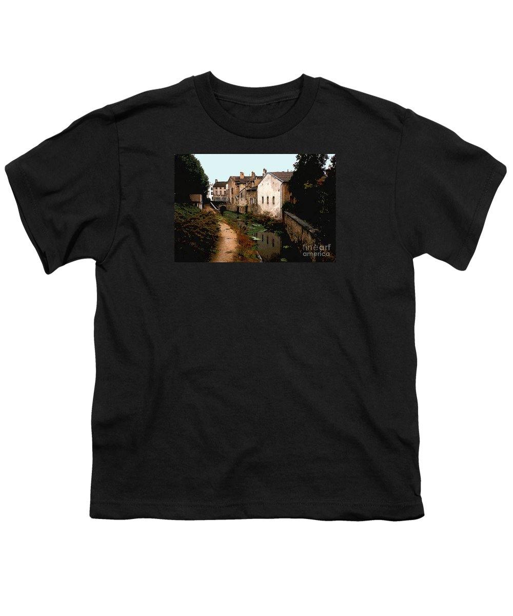 France Youth T-Shirt featuring the photograph Loire Valley Village Scene by Nancy Mueller