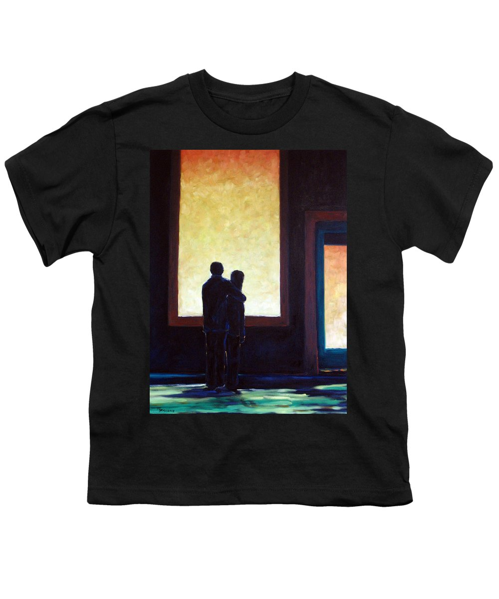 Pranke Youth T-Shirt featuring the painting Looking In Looking Out by Richard T Pranke