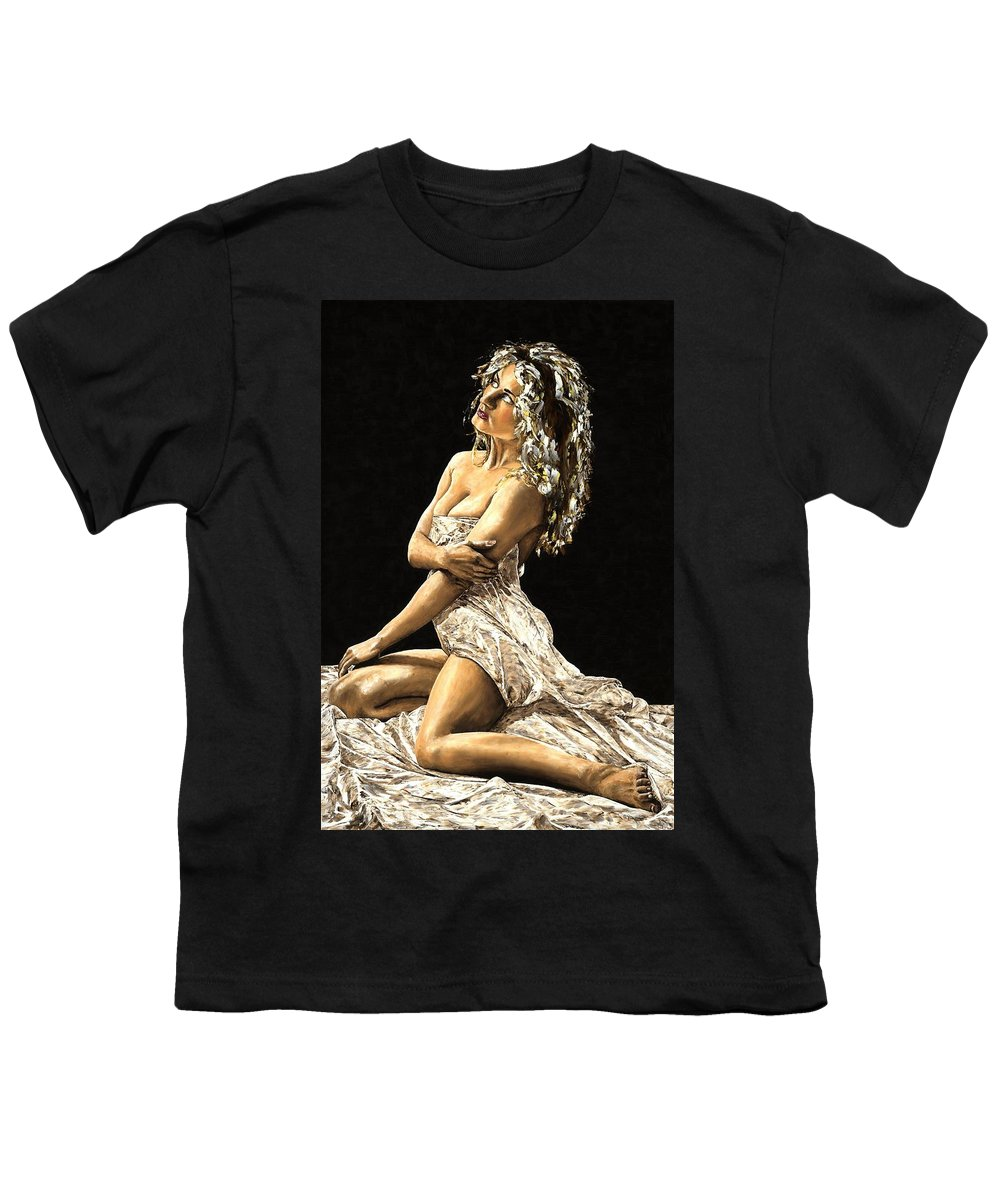 Nude Youth T-Shirt featuring the painting Luminous by Richard Young